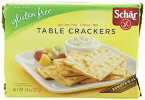 Schar Table Crackers Gluten Free, 7.4-Ounce (Pack of 3)