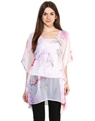 LOVE FROM INDIA Pink Poly Party Printed Cover-Up