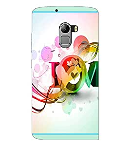 PrintDhaba Love D-2089 Back Case Cover for LENOVO K4 NOTE A7010a48 (Multi-Coloured)