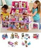 NEW!! Loving Family Dollhouse Super Bonus Set ***6 Rooms of Furniture Included*** (Caucasian Family)