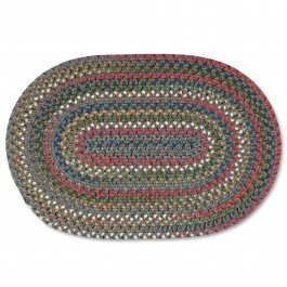 2X3 Old Orchard Braided Rug Taupe 2' x 3'