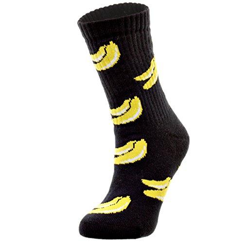 3 x Skinny Scimpanzè Banana calze in cotone, per uomo e donna blu navy Large