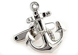MRCUFF Anchor USN Cufflinks with a Presentation Gift Box
