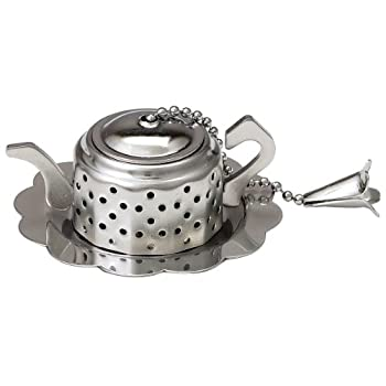 Teapot-Shaped Infuser with Caddy
