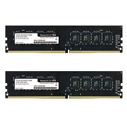TEAMGROUP Elite DDR4 16GB Kit (2 x 8GB) 2666MHz PC4-21300 CL19 Unbuffered Non-ECC 1.2V UDIMM 288 Pin PC Computer Desktop Memory Module Ram Upgrade - TED416G2666C19DC01-16GB Kit (2 x 8GB) (Color: DDR4 Dual-channel for Desktop, Tamaño: 16GB (8GBx2) - 2666MHz)