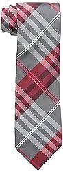 Geoffrey Beene Men's Petros Plaid II Tie, Red, One Size