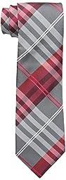 Geoffrey Beene Men\'s Petros Plaid II Tie, Red, One Size