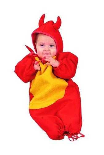 RG Costumes 70117 Lil Devil Bunting Costume - Size 0-6 Months