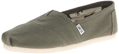 TOMS Women's Classic Canvas Slip-On,Olive,11 M US