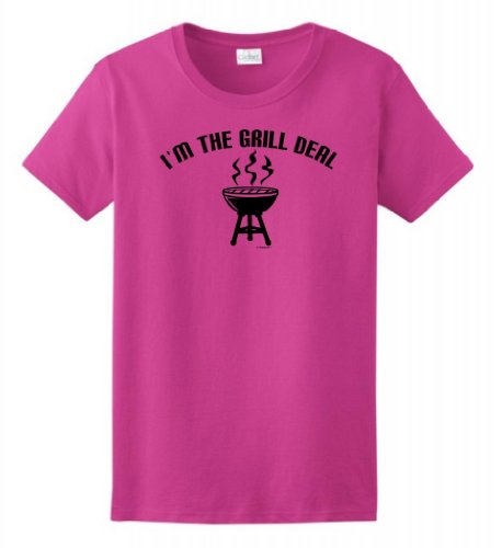 I'M The Grill Deal Funny Bbqing Ladies T-Shirt Medium Heliconia