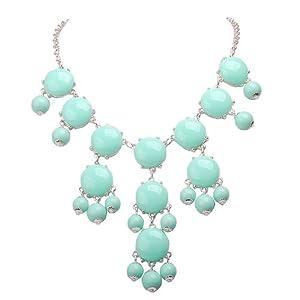Jane Stone Mini Bubble Mint Necklace Small Fashion Women Necklace Statement Child Necklace Fancy Lovely Necklace(Fn0584SM-Mint)
