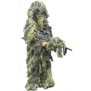 UAG Tactical Military Hunting Sniper Special Ops Woodland Camo Camouflage Deluxe Ghillie Full Body Suit