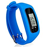 Bomxy Fitness Tracker Watch, Simply Operation Walking Running Pedometer with Calorie Burning and Steps Counting (Royal Blue)
