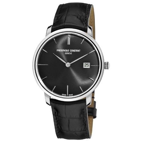 Frederique Constant Men's FC306G4S6 Slim Line Slim Line Mens Black Dial Automatic Watch Watch