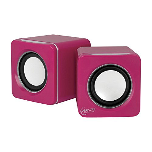 Arctic S111 M Mobile Mini Stereo Usb Sound System With 2 X 2 W Rms Integrated 2000 Mah Lithium Polymer Battery - Retail Packaging - Pink
