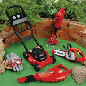 Power garden tools w lawn mower and more for Childrens gardening tools