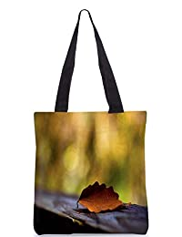 Snoogg Red Leaves With Green Leaves Digitally Printed Utility Tote Bag Handbag Made Of Poly Canvas