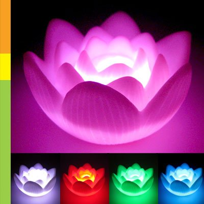 Color Changing LED Lotus Flower Romantic Love