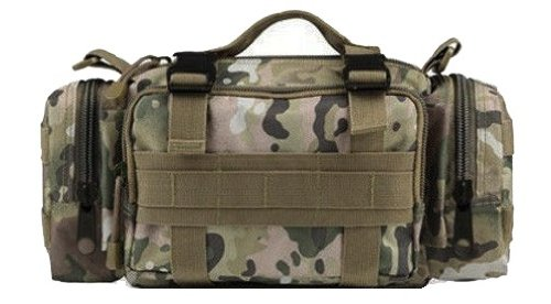 Ultimate Arms Gear Taccam Multi Terrain Camo Camouflage 5 In 1 Tactical Modular Deployment Compact Utility Carry Bag Molle Case Heavy Duty Combat Multi-Functional Equipment Survival Assault Transport Compatible Pistol Gun Camera Electronic Device Gear Pac