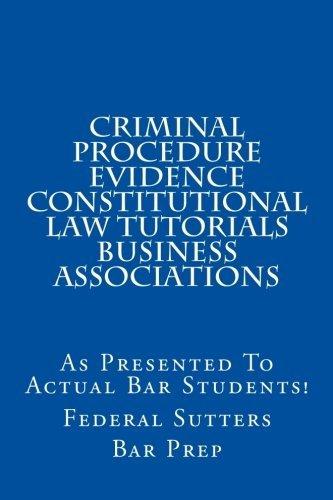 criminal law procedure and evidence pdf