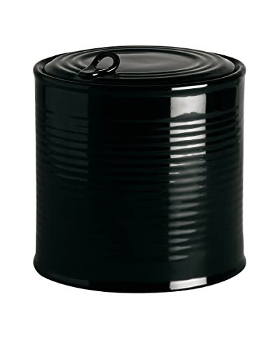 Seletti Limited Edition Biscuits Porcelain Jar, Black