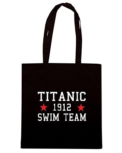 Cotton Island - Borsa Shopping TR0138 Titanic Swim Team T-Shirt, Taglia Capacita 10 litri