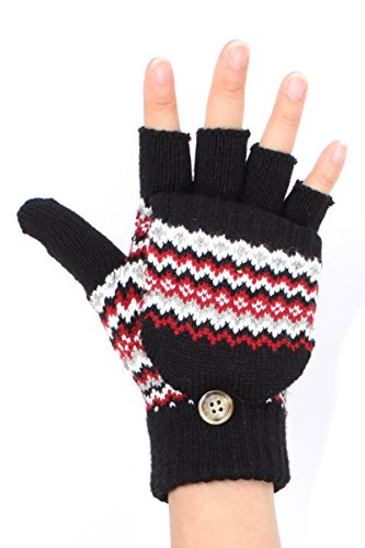LL Un (Adult Short Fingerless Black Gloves)