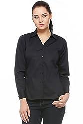 Fasnoya Formal Black Shirt for Women