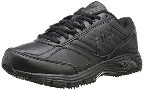 Fila Women's Memory Flux Slip Resistant Training Shoe, Black/Black/Black, 7 M US