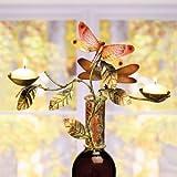 Decobreeze Home Holiday Decoration Capiz Shell Candelabra Bottle Topper-Dragonflies