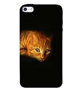 Fuson 3D Printed Cat Designer Back Case Cover for Apple iPhone 4 - D1097
