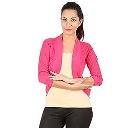 Belonas Women's Pink Shrug