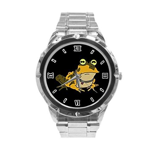 Hypnotoad Futurama Custom Image NEW Sport Fashion Adult Stainless steel band watch