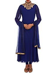 Royal Blue Anarkali Suit Adorn In Sequin Embroidery