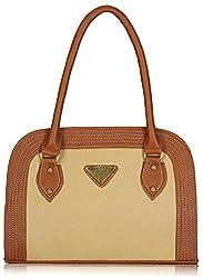 Fantosy Women's Handbag (Beige and Tan) (FNB-389)