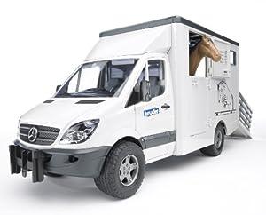 Bruder - BRR02533 - Construction et Maquette - Accessoire - Camion Transparent Chevaux + 1 Cheval