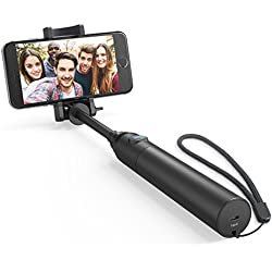 Selfie Stick, Anker Bluetooth Highly-Extendable and Compact Handheld Monopod with 20-Hour Battery Life for iPhone 7/7 plus/Se/6s/6/6 Plus, Samsung Galaxy S7/S6/Edge, Note 5/4, LG G5, Moto and More
