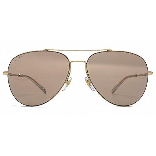 Gucci Aviator Sunglasses in Gold Brown Mirror GG 2245/S J5G XS 59