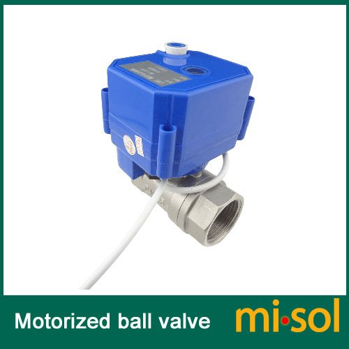 """Misol 1Pcs Of Motorized Ball Valve 1""""(Bsp) Dn25 / 12Vdc / 2 Way / Electrical Valve / Ball Valve With Acuator / Reduce Port / Cr01 / Stainless Steel / With Manual Switch"""