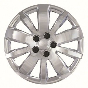 "New Set of 4 Chrome 16"" inch Hub Cap Wheel Rim Covers: 2011-2015 Chevrolet Cruze: 461-16C"