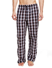 Autograph Pure Cotton Checked Pyjama Bottoms