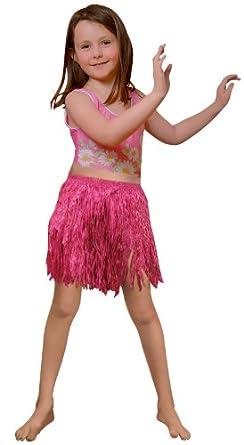 Child Pink Mini Hula Skirt Party Accessory