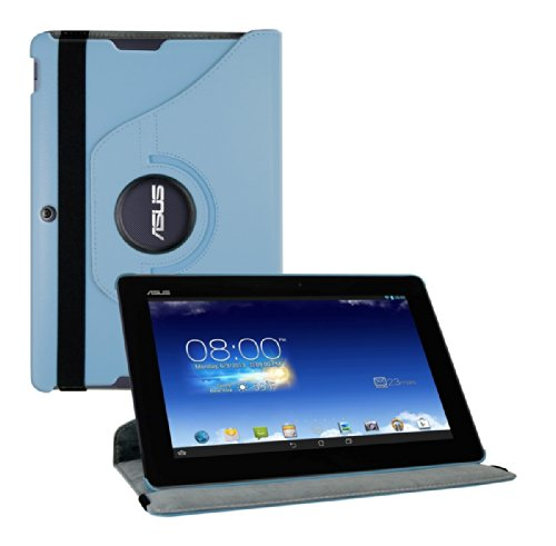 Click to buy kwmobile 360° premium SYNTHETIC LEATHER CASE for Asus Memo Pad FHD 10 ME302C in Light blue with convenient stand function and Auto Sleep / Wake Up - From only $35.89