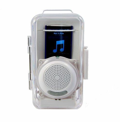 aquabourne bathroom shower speaker waterproof case for ipod mp3