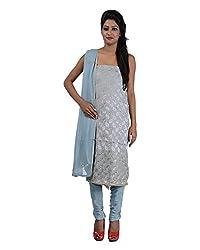 Mumtaz Sons Women's Cotton Unstitched Dress Material (MS111455D,Grey)
