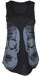 vip Women's Double Aztec Skull Vest Top