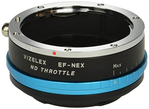Vizelex ND Throttle Lens Adapter from Fotodiox Pro- EOS EF/EF-s Lens to Sony E-Mount w/Built-In Variable ND Filter ND2-ND1000