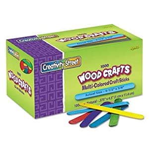 Colored Wood Craft Sticks