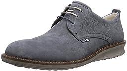 ECCO Men\'s Contoured Plain Toe Tie Oxford, Moonless, 46 EU/12-12.5 M US