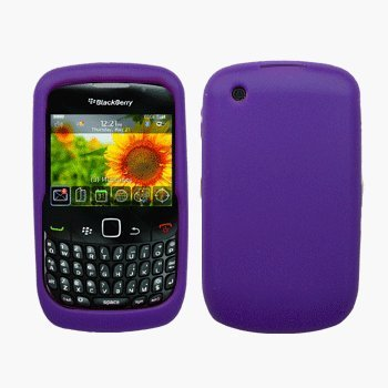 Purple Silicone Case / Skin / Cover for RIM BlackBerry Curve 8520 / 8530